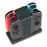 Popsky Nintendo Switch Joy-Con コントローラー 充電器 4つ同時充電できNintendo Switchチャージャー ニンテンドースイッチJoy-Con充電器 チャージャー 置くだけで充電スタンド 充電指示ライト付き (Nintendo Switch Joy-Con, コントローラー 充電器)