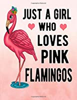 Just A Girl Who Loves Pink Flamingos: Pink Flamingo Notebook 100 Blank Lined Pages Pink Flamingo Gift Idea For Flamingo
