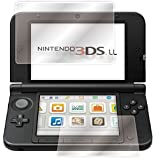 RoiCiel 3DS LL/New 3DS LL/液晶保護フィルム 【上部画面強化ガラスフィルム、下部画面PETフィルム】 硬度9H 超薄0.3mm 2.5D ラウンドエッジ加工 (3DS LL/New 3DS LL、上下2枚セット対応)