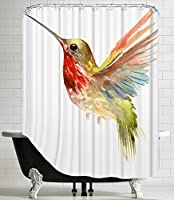 "American Flat Flamingo_11""Shower Curtain by Suren Nersisyan, 71""x 74"" [並行輸入品]"