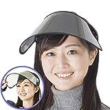 サンバイザー 業界初ずれない仕様 レディース UVカット 国内検査機関で証明済み 紫外線対策 日焼け対策 つば広 ワイド 帽子