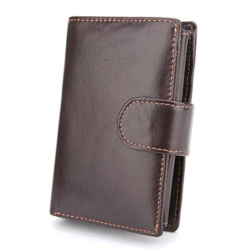 Foloda メンズ 財布 二つ折り財布 レザー カード13...