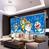 日本のアニメ壁紙ドラえもん壁画漫画写真壁紙大きな壁画部屋の装飾天井ベッドルームキッズルーム 幅 250cm * 高さ175cm A