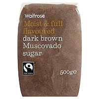 砂糖ダークブラウンマスコバドの500グラム (Waitrose) - Sugar Dark Brown Muscovado Waitrose 500g