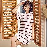 新しい夏の大きいサイズのナイトドレスの女性の綿の半袖ニット韓国のファッション漫画パジャマ女性のホームサービスに代わって発行することができます
