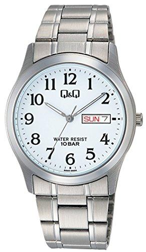 シチズン キューアンドキュー Q&  Q 腕時計 ステンレスモデル アナログ 10気圧防水 ホワイト W472-204 メンズ