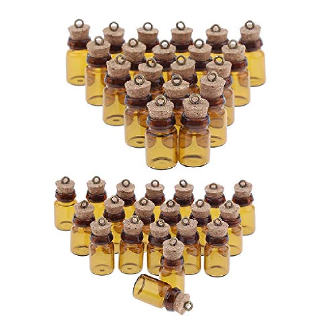 線雇用動作dailymall 40個のミニアンバーガラス瓶コルクストッパー付き瓶