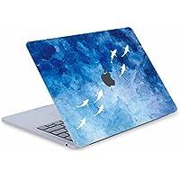 """Digi-Tatoo®スキン カバー ステッカー(Macbook Air 13"""" -A1369/A1466インチ用(、全身保護、取り外し可能、傷つき防止および残留物フリー [青い海と鯨]"""