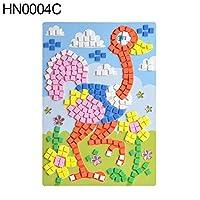 hamulekfae-素敵な漫画動物車3Dエヴァ発泡モザイク絵画ステッカーキッズパズルクラフト - HN0004C