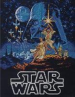 """ディメンジョンズ クロスステッチ 刺繍キット """"スターウォーズ ルーク&レイア姫"""" Dimensions Needlecrafts Counted Cross Stitch,Star Wars - Luke & Princess Leia 【並行輸入品】"""