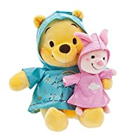 Disney Winnie the Pooh and Piglet Rainy Day Plush Set - Small 【You&Me】 [並行輸入品]