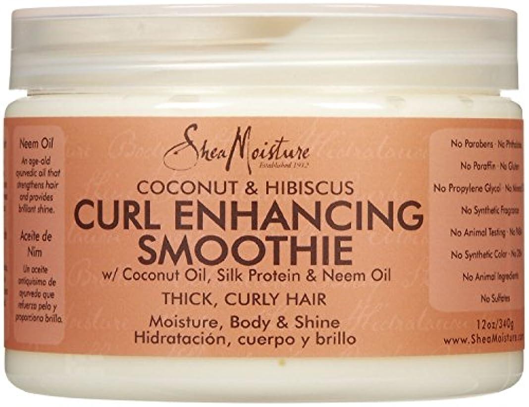 食堂ラッチチームシーモイスチャー Shea Moisture Coconut Hibiscus Curl Enhancing Smoothie ヘアトリートメント