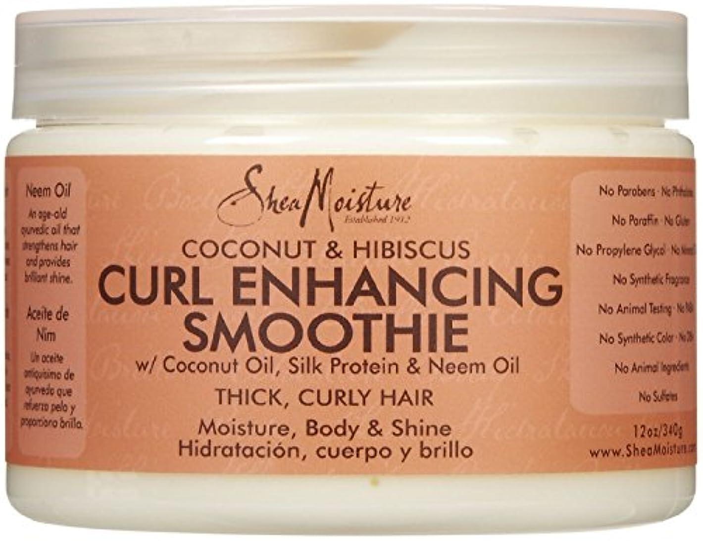 結論円周隠すシーモイスチャー Shea Moisture Coconut Hibiscus Curl Enhancing Smoothie ヘアトリートメント