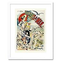 Travel Tourism Ad Vintage 1900 Villers-sur-mer France Framed Wall Art Print 旅行観光ビンテージフランス壁