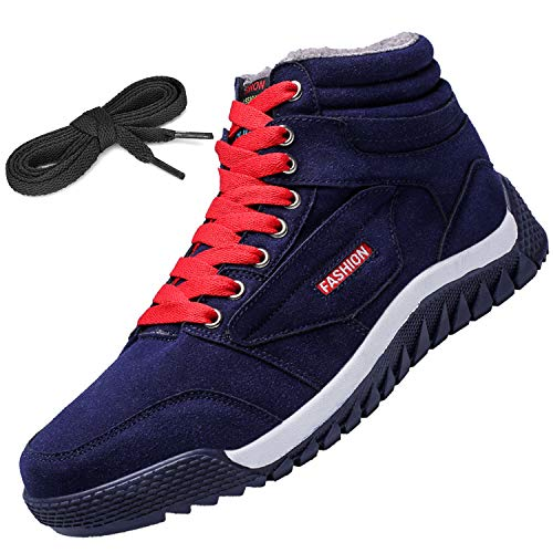 [Visionreast] 24.5-28cm スノーブーツ メンズ ウィンターブーツ アウトドア 雪靴 防水 防寒 防滑 ムートンブーツ スノーシューズ 滑り止め 綿靴 おしゃれ スニーカー レースアップ ミリタリーブーツ 冬用 シューズ 通勤 通学