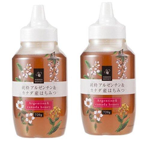 日新蜂蜜 純粋アルゼンチン&カナダ産はちみつ720g×2本