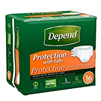 Depend Fitted Briefs, Size Large (35-49 Waist),Case of 64 by Depends