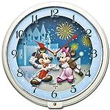 SEIKO CLOCK (セイコークロック) 掛け時計 ミッキー&フレンズ アナログ 5曲メロディ Disney Time(ディズニータイム) 白パール FW568W