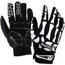 SHENKEL スケルトン グローブ 骨 スカル ボーン 長指 手袋 メンズ レディース フルフィンガー Mサイズ (黒+ホワイト) サバゲー サバイバルゲーム