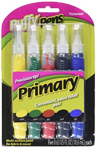 Puffy Paint Pen Set 5/Pkg-Prim...