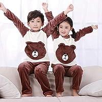 Winter Children's Clothing Girl Mickey Cartoon Pajamas Suits Boy Plush Warm Home Clothes Thickened Nightwear Kid Girl Pajamas|Pajama Sets|