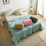 Strip Super Soft Blanket Faux Fur Shaggy Blanket with Crystal Fleece Stripe Design Fluffy Long Hair Fuzzy Throws Perfect for