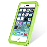 KYOKA iPhone SE 5 5s 防水ケース 指紋認証対応 防水 耐震 防塵 耐衝撃 IP68 アイフォン SE 5 5s 防水カバー (グリーン)