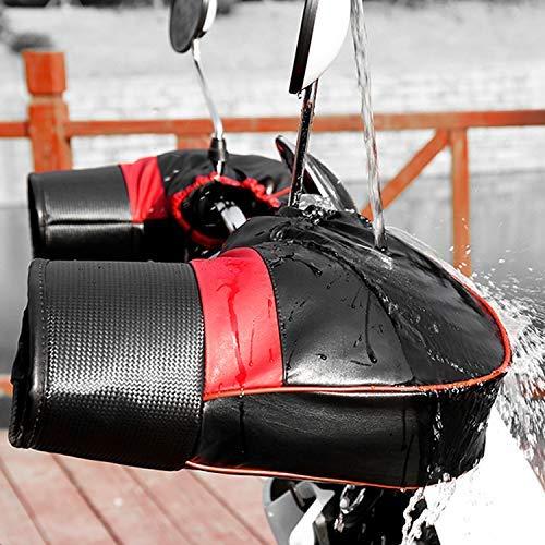 Kodi バイク用ハンドルカバー オートバイ バイク グローブ 裏起毛タイプ ハンドルウォーマー 防寒 防水 防風 保温性抜群 汎用 冬用 ブラック (K35)