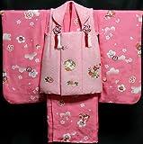 七五三 着物 3歳 女の子 着物 被布セット 正絹 新品73j284