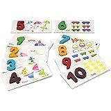 StarMall モンテッソリ 数字カード 数字を習う 就学前用ティーチング玩具