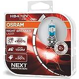 OSRAM 9006NL-HCB Night Breaker Laser HB4, Next Generation, 150% More Brightness, Halogen Headlamp, 12V, Passenger Car, Duo Box, Set of 2