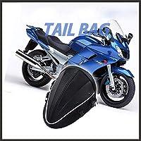 防水オートバイ後部座席ヘルメットバッグ拡張可能な大容量バックパックダブルショルダーバッグハンドバッグ多機能耐久性のあるオートバイの燃料タンクオートバイアクセサリー、SAICHENG、ブルー