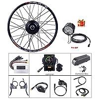 48V500Wフロントハブモーターブラシレスギア自転車電動バイク変換キット付き液晶ディスプレイ付き20 26 27.5 700cインチホイールドライブエンジン