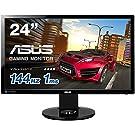 ASUS ゲーミングモニター ディスプレイ24インチ(1ms/144HZ) ゲーム機能/FPS向き/HDMI,DP,DVI/高さ調整/回転 …