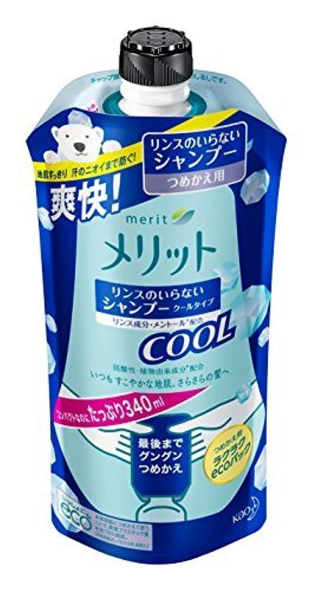 四やけど靄メリット リンスのいらないシャンプークール つめかえ用 340ml Japan