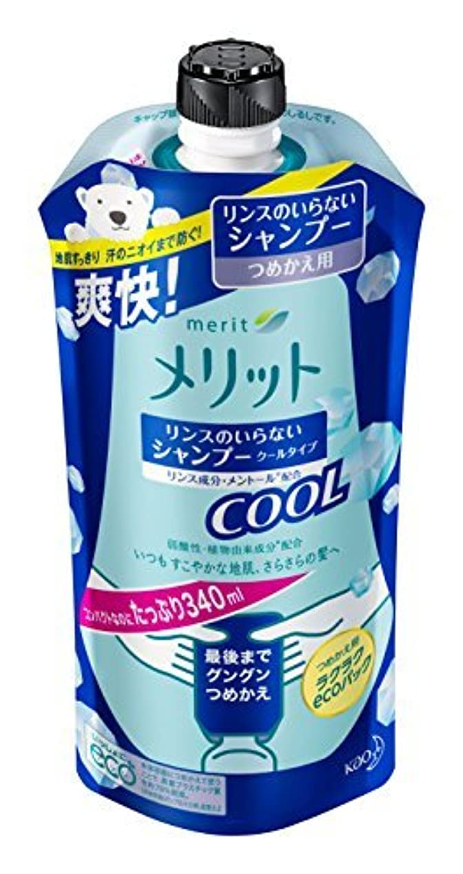壁紙事前不利益メリット リンスのいらないシャンプークール つめかえ用 340ml Japan