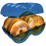 Bagel Fresh Container - 6 Fresh Bagels Keeper & Airtight Storage