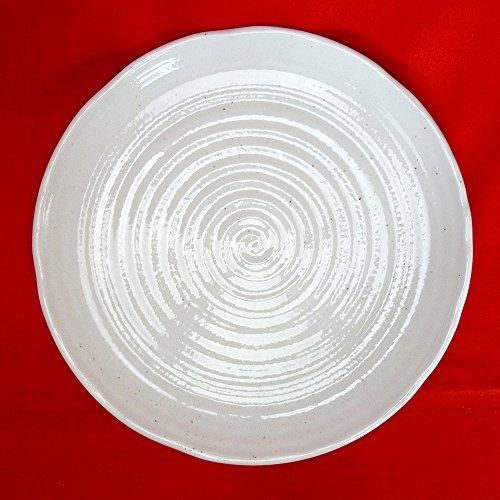 丸大皿 粉引釉30cm大皿(9.7皿) [29.5 x 3.5cm] 和食器 料亭 旅館 飲食店 業務用