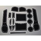 KINMEI(キンメイ) 日産 新型 エクストレイル 白 T32 専用設計 インテリア ドアポケットマット ドリンクホルダー 滑り止め ノンスリップ 収納スペース保護 ゴムマット X-TRAIL NISAN 新車st-w