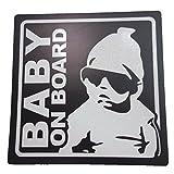 ナイキ ベビーシューズ BABY ON BOARD 赤ちゃん 乗車中 ( 12cm マグネット ステッカー ブラック )