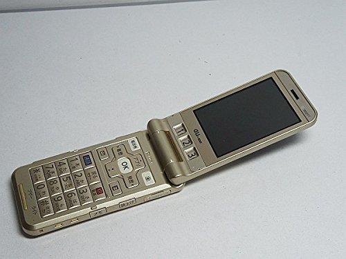 au W62PT ゴールド 携帯電話 白ロム パンテック