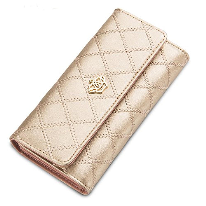 Strimm 財布 レディース 長財布 三層折り畳み式 大容量 可愛い 人気 おしゃれ カード収納 多機能