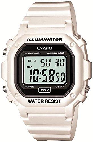 [カシオ]CASIO 腕時計 スタンダード デジタル表示 ホワイト×ブラック F-108WHC-7AJF メンズ