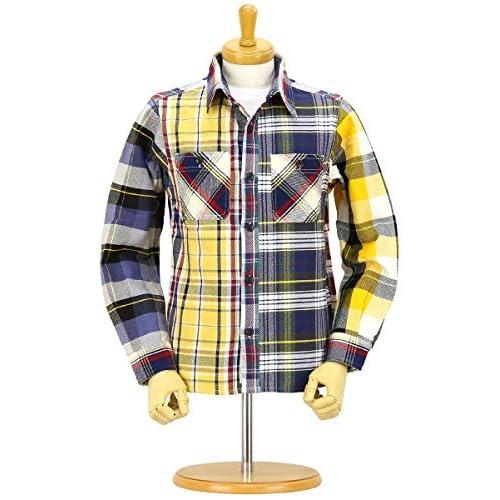 (ヒューストン) HOUSTON ヘビービエラチェック クレイジー ワークシャツ 40120CZ 04色 M size