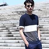 (タケオキクチ) TAKEO KIKUCHI 【日本製】ボーダーサマーニットTシャツ 07012052 02(M) ブルー(393)