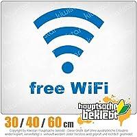 Free WiFi - 3つのサイズで利用できます 15色 - ネオン+クロム! ステッカービニールオートバイ