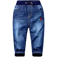 Mud Kingdom Boys' Winter Denim Jeans with Fleece Lining