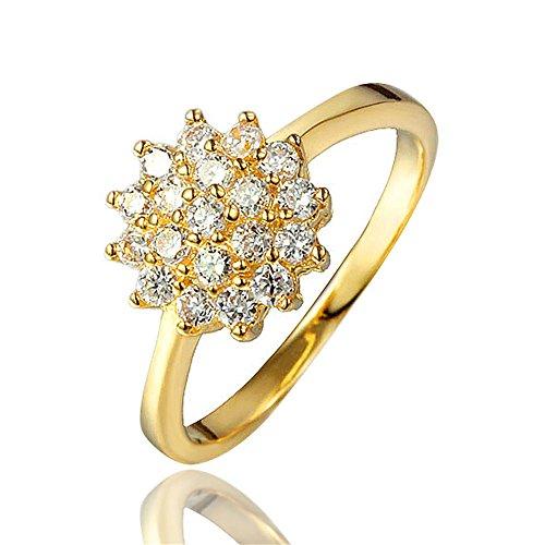 11MM ラウンド形 キュービック ジルコニア CZ 花火 スター リング 結婚指輪 レディース首飾 記念日 誕生日 彼女 プレゼント (11)