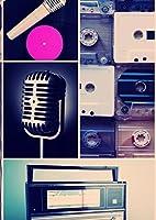 ポスター ウォールステッカー シール式ステッカー 飾り 89×127㎜ L版 写真 フォト 壁 インテリア おしゃれ  剥がせる wall sticker poster レコード 音楽 レトロ 010839