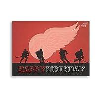 Detroit Red Wings誕生日カード2,マルチカラー